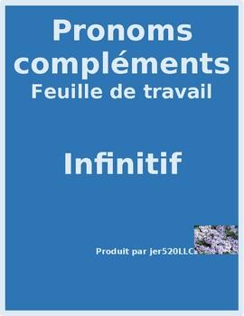 Pronoms compléments Object pronouns avec l'infinitif worksheet 1