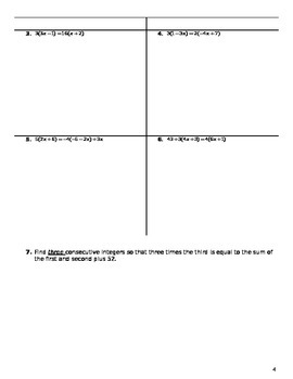 Unit 2 Objective 13: Equations with variable and distribution on both sides