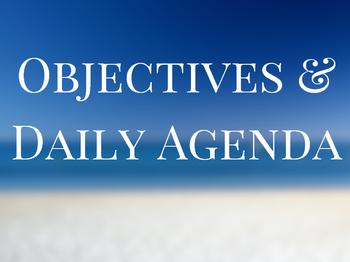 Objective & Agenda Poster