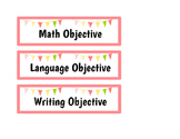 Objective Board Labels