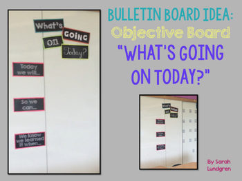 "FREEBIE! Objective Board  ""What's Going On Today?"""