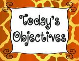 Objective Cards Animal Print