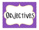 Objective Display