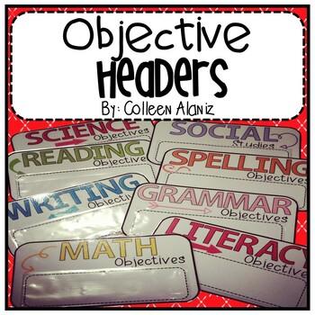 Objective Headers and Homework Headers (Color Splash)