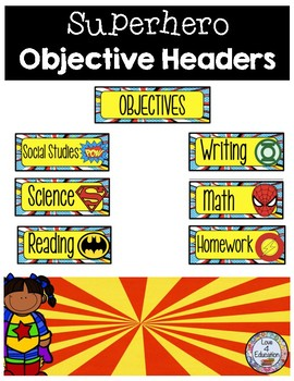 Objective Headers Superhero Theme
