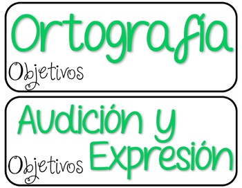 Objective Headers in Spanish and English