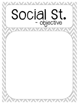 Objective Poster