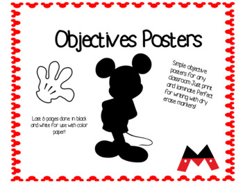 Objective Posters (Mickey Mouse)