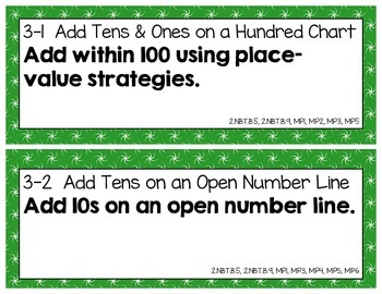 Objective Posters - enVision Math Gr 2 Topic 3 - Add Within 100 Using Strategies