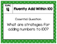Objective Posters - enVision Math Gr 2 Topic 4 - Fluently Add Within 100
