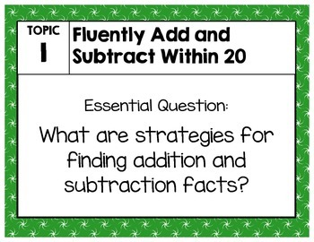 Objective Posters - enVision Math Grade 2 Topic 1
