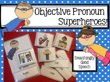 Objective Pronoun Superheroes Activity