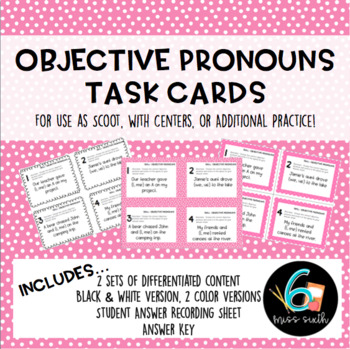 Objective Pronouns Task Cards