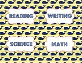 Objective Signs - Nautical Theme - Whales - reading, math,