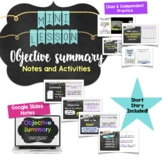 Objective Summary Mini Lesson Activity for Middle School ELA - Distance Learning