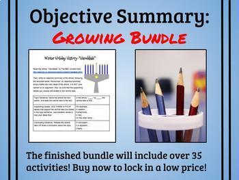 Objective Summary Practice GROWING BUNDLE
