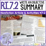 Objective Summary RI.7.2 | Should Homework Be Banned? Article #7-2