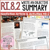 Objective Summary RI.8.2 | Apartheid in South Africa Article #8-2