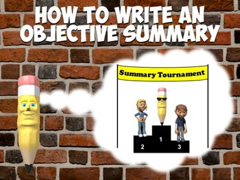 """Objective Summary Writing with """"B. Sharpe"""" the Pencil"""