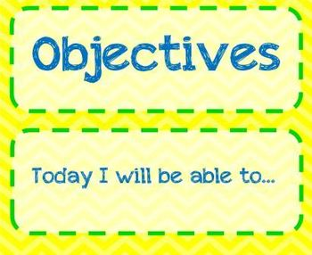 Objective Wall Posters