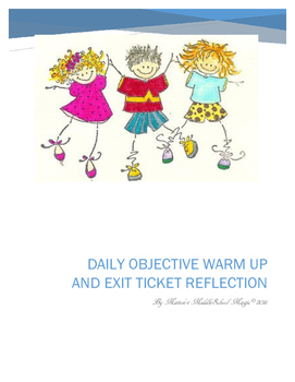 Objective Warm Up and Exit Ticket