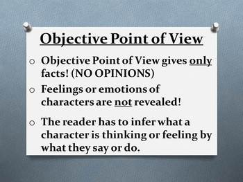 Objective and Subjective Point of View Presentation