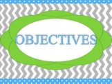 Objective board headings