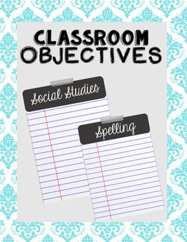 Objectives Board / Gray + White /