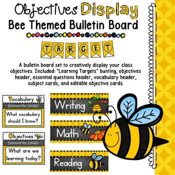 Objectives Board: Bee Themed