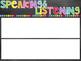 EDITABLE   Objectives Board Headers   Chalkboard & Brights Themed