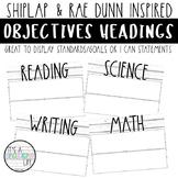 Objectives Board Headers | Shiplap & Rae Dunn Inspired