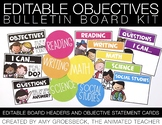 Editable Objectives Board Kit