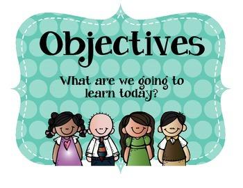 Objectives Board Polka Dot