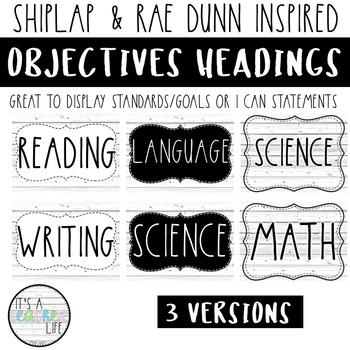 Objectives Board   Shiplap & Rae Dunn Inspired