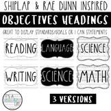Objectives Board | Shiplap & Rae Dunn Inspired