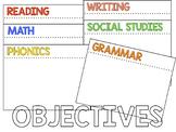 Objectives Bulletin Board