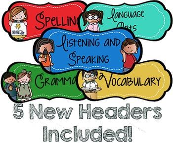 Objective Headers | Classroom Decor | Bulletin Board