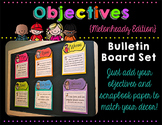 Objectives Bulletin Board Headers {Melonheadz Edition}