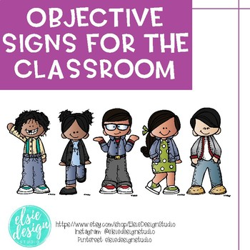 Objectives Display, I Can Statement Signs