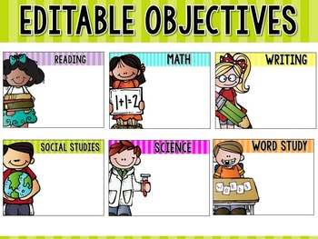Objectives (Editable)