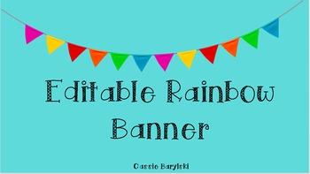 Editable Rainbow Banner