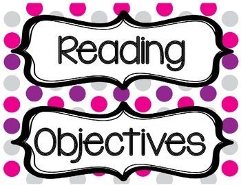 Objectives Headings Posters