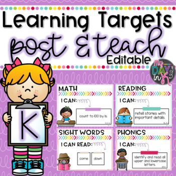 Kindergarten Learning Targets