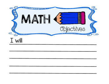 Objectives, Key Vocabulary, and Focus Skills Display Bulletin Board
