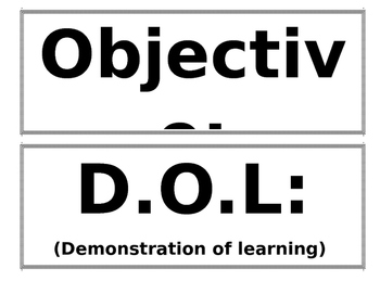 Objectives Labels