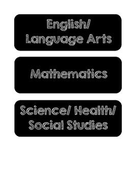 Chalkboard Objectives Labels