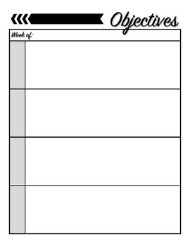 Objectives & Lesson Plan Template