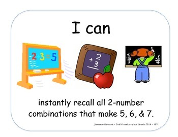 Objectives Math 2nd 6 Weeks