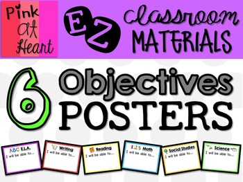 Objectives Posters FREEBIE