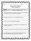 """Objectives Review """"Master of the Objective!"""" Ready Gen 5th Grade Unit 1 Module A"""